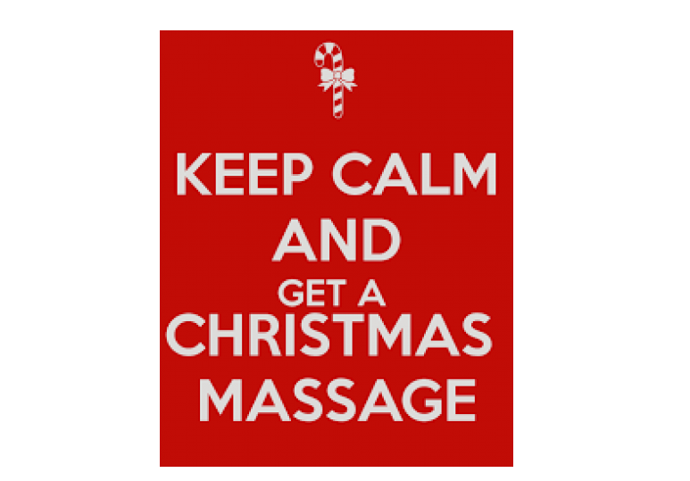 christmas massage pampering
